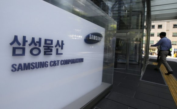 The logo of Samsung C&T Corp