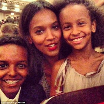 within Glamour Females of the Year Awards, presented at Carnegie Hall yesterday evening, Liya kebede (pictured) and Christy Turlington Burns both took home the award for part type of the Year -- their youngest family relations looking on with pleasure