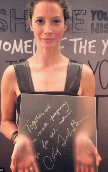 Backstage,  Mrs Turlington Burns shared her life motto: 'Together,  we can make maternity safe for several mothers!'