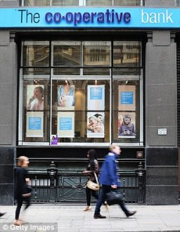 Blues: The Co-op Bank lost £1.5 billion