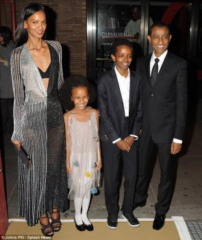 '#soProud to-be right here with my kids, ' Liya Kebede, married to Ethiopian hedge investment manager Kassy Kebede, blogged on Instagram of her 12-year-old child Suhul and eight-year-old girl Raee
