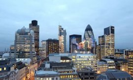 Square Mile in London, the city's financial area