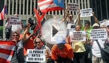 NY Boricuas Protest Hedge Fund Manager John Paulson's
